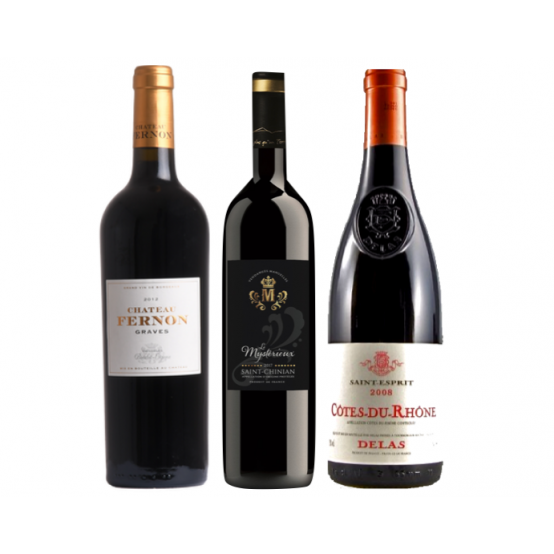 Coffret 3 grands vins rouges
